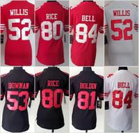 49ers Women Jerseys 7 Colin Kaepernick 8 Steve Young 85 Vern...