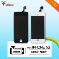 LCD Digitizer écran tactile Avec Pièces Cadre Assemblée complète de remplacement pour iPhone 5S DHL Livraison gratuite