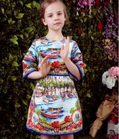 6pcs lot WLmonsoon 2016 Big Girls Flora Printed Jacquard Dre...