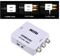 HDMI Converter HDMI AV convertisseur numérique analogique RCA HDMI AV magasins d'usine vidéo audio HDMI2AV 1080P DHL Livraison gratuite