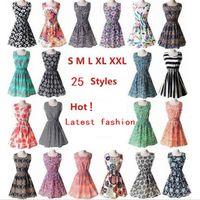 Moda Nova Vestido Casual Plus Size Vestido China barato 19 Design Mulher Vestuário Moda Summe Vestido Sem Mangas Frete Grátis