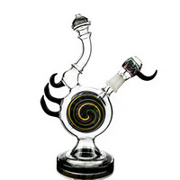 colored glass bongs newest heady glass diffused downstem wig...