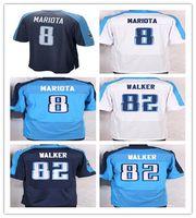 8 Marcus Mariota 2016 New Mens Titans Football Jerseys 82 Wa...