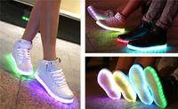 NEW 7 Colors LED luminous shoes unisex sneakers women sneake...