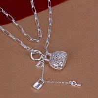 Prix d'usine de qualité supérieure 925 bijoux en argent collier de mode mignonne collier sac pendentif Livraison gratuite DHN044