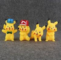 9. 5- 11. 5cm 4 Styles Hot Anime Poke Pikachu Soundable Vinyl A...