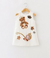 2016 Autumn Children Girls Cute Pear Printing Sequins Star S...