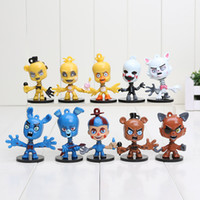 10Pcs Set 6cm FNAF Five Nights At Freddy' s figure Bobbl...