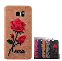 Chinese Rose Embroidery Case for iPhone 6 6S Plus Hard Art H...