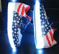 7colors LED Shoes New Fashion Children USB Charging LED Ligh...