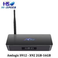 S912 Android tv box X92 2G 16G Qcta- core 2. 4 5. 8G Wifi HD 4K...