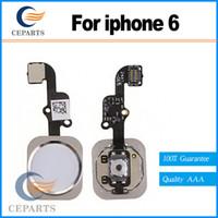 Nouveau cas de remplacement blanc pour iphone 6 Home bouton flex câble assemblage avec livraison rapide