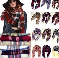 Lady Крупногабаритные Шотландка шали обруча шарфа шотландки Cozy Проверено пашмины плед шарфы Одеяло Шотландка Сетка Шарф кисточкой пашмины 140 * 140см KKA877
