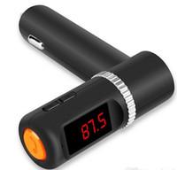 2015 Date Universal BC08 Bluetooth Car Kit MP3 kit mains libres affichage LED Chargeur Transmetteur FM Lecteur USB double noir