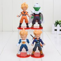 Dragon ball Z 4pcs set Figure Saiyan Goku Vegeta Piccolo Tru...