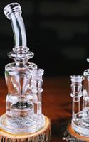 Nouveaux bongs d'œufs bongs en verre Marque tuyau d'eau plate-forme pétrolière recycleur de feb de type bongs Meilleur qualité