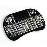 RII I8 Air Fly Mouse Backlight Black White color 2. 4G Wirele...