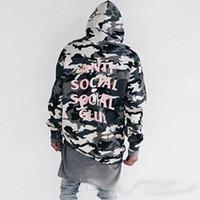 2017 Primavera ANTI SOCIAL CLUB Camo Hoodie para homens Mulheres Hooded Loose Cotton Sweatshirts ASSC Hip-Hop Streetwear Pulôver Hoodies Coat