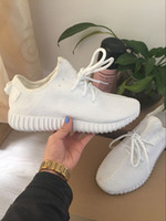 pure white kanye west boost 350 sports shoes women men baske...
