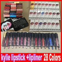 Последние Дженнер LIP KIT Lipliner карандаш Velvetine Жидкость матовая помада красного бархата макияжа губ Gloss вкладыш 27 цветов на складе