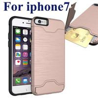 Pour iPhone 7 Plus Boîtier pour carte Note 7 Coque arrière en armure avec étui pour samsung note 5 SCA211