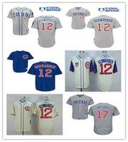 2016 Chicago Cubs #12 Kyle Schwarber Baseball Jerseys 17 Kri...