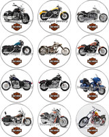 Free shipping PUNK Motorcycle glass glass Snap button Charm ...