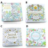 New Secret Garden Livros de Colorir Animal Kingdom Secret Garden Adulto Reduzir o estresse Desenho Livro Diy Reserva Animal Kingdom Secret Garden 1677.