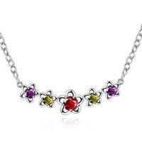 Nouveau bijoux de mode Bijoux 925 collier pendentif en argent pour les femmes Simple et élégant collares mujer Vente en gros de gros