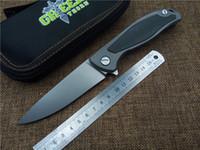 Green thorn F95 Tactical Flipper folding knife bearing D2 bl...