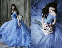 Colorful Wedding Dresses 2017 Tulle A Line Wedding Gowns off...