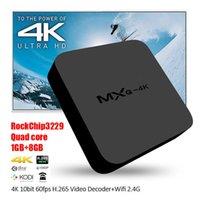 MXQ 4K Android TV Box Quad core Rockchip RK3229 KODI Entièrement équipé H.265 4K 60tps soutien Smart HD Media Player Télécommande VS MXQ Pro