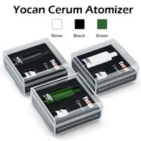 Authentic Yocan Cerum Atomizer Vaporisateur de cire en céramique complète Quartz de rechange QDC double bobine Fit 1100mAh Yocan Evolve Plus Yocan Cerum bobines