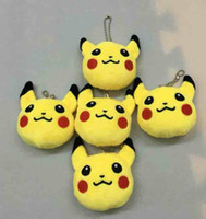 2016 New 8cm pikachu Slovely poke Plush Toy Pendant key chai...