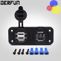 Dual USB Car LED 3. 1 A RV Boat Charger Adapter and Voltmeter...