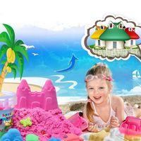 New Gift Tools Azul Amarelo Pink Green Venda quente Dinâmico Educacional incrível Indoor Magic Brinquedos Play Areia Brinquedos 4135