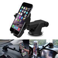 Support de support de voiture support de téléphone portable codeur de voiture support GPS long cou universel réglable à 360 degrés avec ventouse forte
