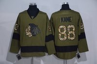 2016 Chicago Blackhawks Army Green Jerseys Salute To Service...
