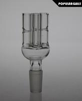 2pcs / Lot Mâle 14.4mm Bol en verre avec des bras d'arbre pour les bongs en verre Tobacco Bowls For Smoking Pipe Herb Bowl dôme en verre pour Dab plates-formes PG008