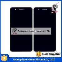 Vente chaude pour Huawei Honor 6 plus numériseur d'écran tactile d'affichage à cristaux liquides avec l'assemblage de cadre noir Livraison gratuite