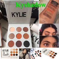 Новое прибытие Кайли Дженнер Косметика Kyshadow тени глаза Kit Водонепроницаемый Matte Eyeshadow Пудра Palette Bronze 9 цветов бесплатная доставка