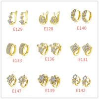 Fashion Women Crystal Ear Cuff Jewelry White Gold Plated Daz...