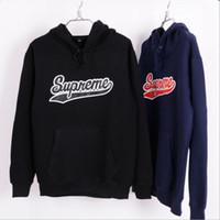 Suprem Mens Hoodies Sweatshirts Hip Hop Fleece Pullover Hood...