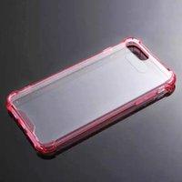 iPhone 7 6S Plus Жесткий чехол Прозрачный акриловый Гибридный трудный случай Clear Мягкий бампер ТПУ чехол для Samsung iPhone7 Примечание 7 Примечание 7