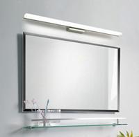 Ванной комнаты СИД свет стены Бра Зеркало переднего освещения Водонепроницаемый предотвращающие запотевание акриловые LED зеркало в ванной Свет Светодиодные Рождественский подарок # 02