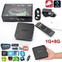 Оригинал MXQ TV Box Amlogic S805 Quad-Core Cortex-A5 Mali-450 H.265 KODI 15,2 Предустановленные MXQ Android TV Box 1GB RAM 8GB ROM