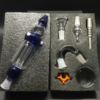 Hot vente Nectar Collector Kit Honey Straw Concentrez Pipe en verre 14mm Joint Nectar Collector 2.0 Kit verre Bongs pour conduites d'eau non-fumeur