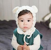 Baby Warm Soft Knitted Wool Hat Handmade Crochet Knitting Ca...