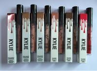 Kylie Jenner Lipkit kit de maquillage pour les lèvres mat métallique eau rouge à lèvres baiser la preuve avec effet de longue durée poudreux souple Matte Lip gloss