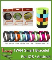 TW64 bracelet intelligent Band Fitness Activity Tracker Bluetooth 4.0 Smartband Sport Bracelet 5 couleurs pour ios android